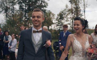 Svatební video z Vysočiny ze statku Opajda